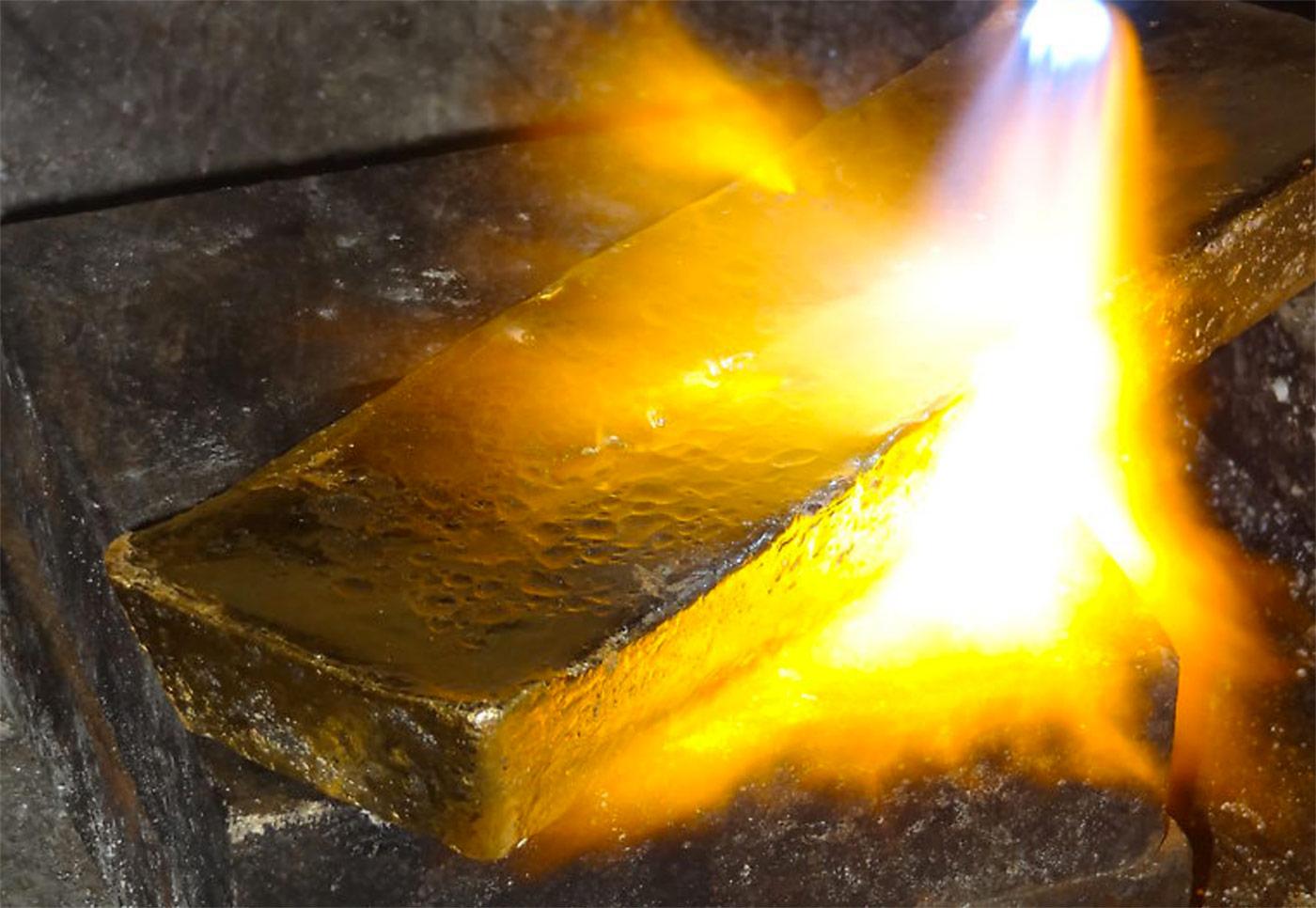 Inca One Gold Pour