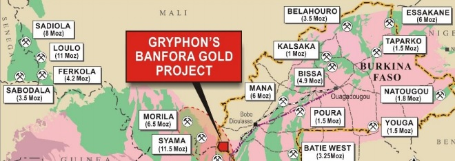 Gryphon Minerals announces metallurgical test results on its Banforo gold project