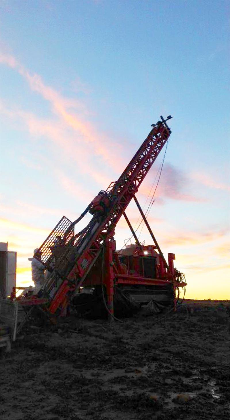 2018 drilling on the Brio vein breccia structure, Los Cisnes Project