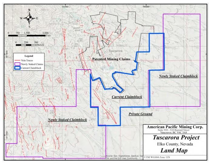 American Pacific Mining USGD Tuscarora