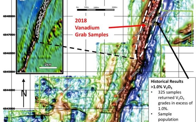 Bluebird's historical data shows exceptional vanadium grades at Canegrass