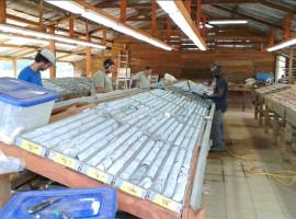 Core Logging Facility at the Citron Exploration Camp