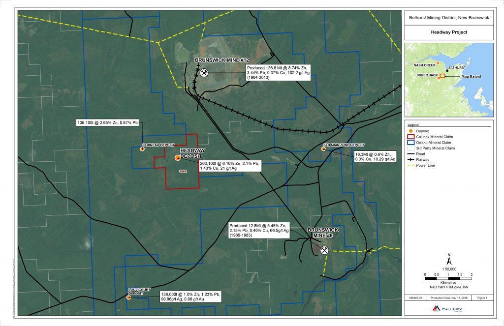 Callinex Mines CNX Headway