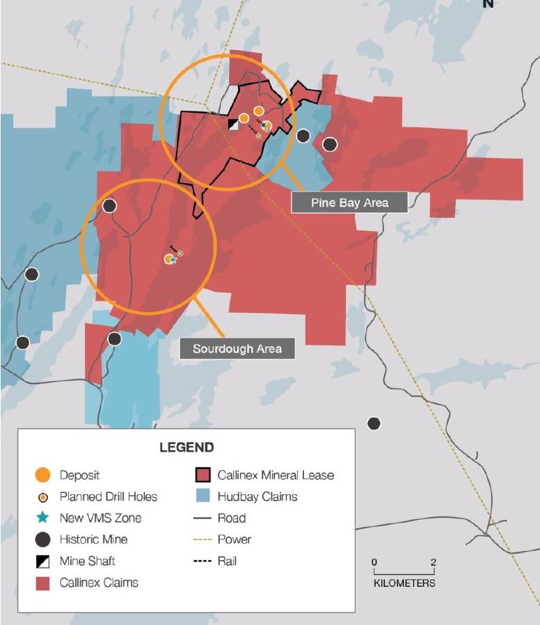 Callinex Mines CNX Pine Bay Manitoba