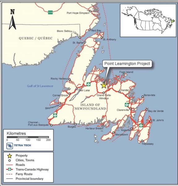 Callinex Mines CNX Point Leamington