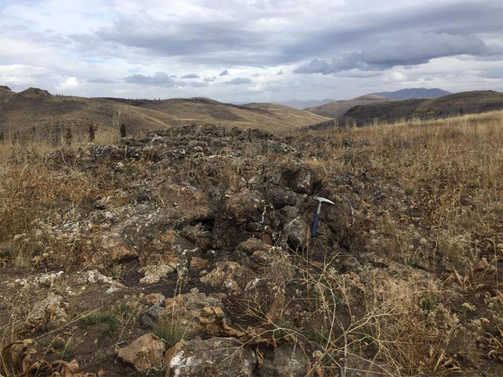 Cobb Creek - Outcrop at McCall target