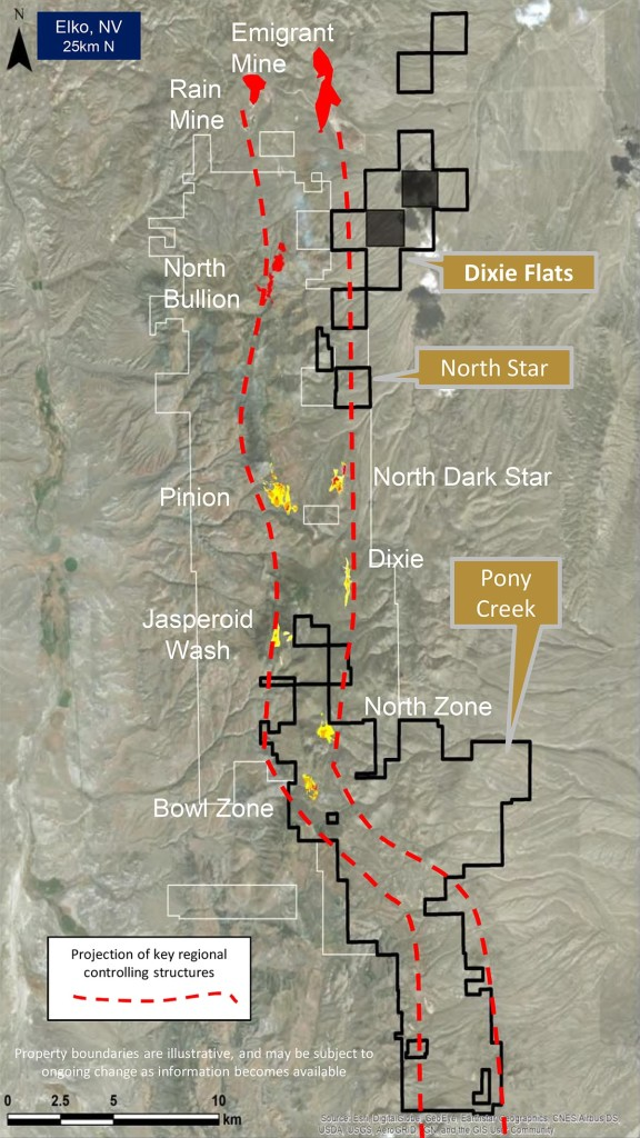 District Setting - Pony Creek, North Star and Dixie Flats