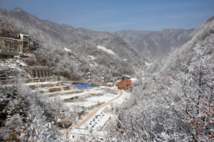Entrance to Sangdong Mine in Winter Season
