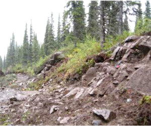 Outcrop Bulk Sample Site used for flotation pilot feed