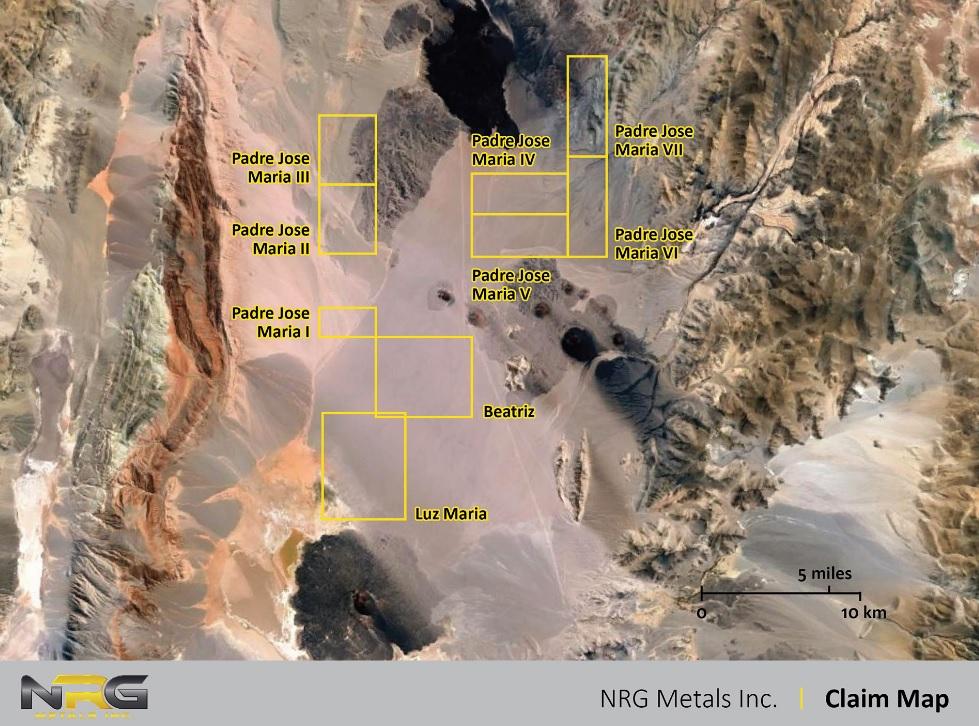 NRG Metals NGZ Claim Map
