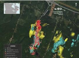 Callinex Mines IP survey indicates a 76 hectare priority zone