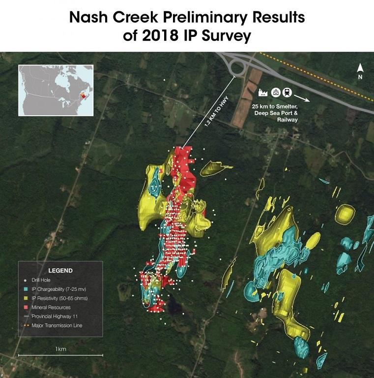 Nash Creek IP Survey Callinex Mines CNX