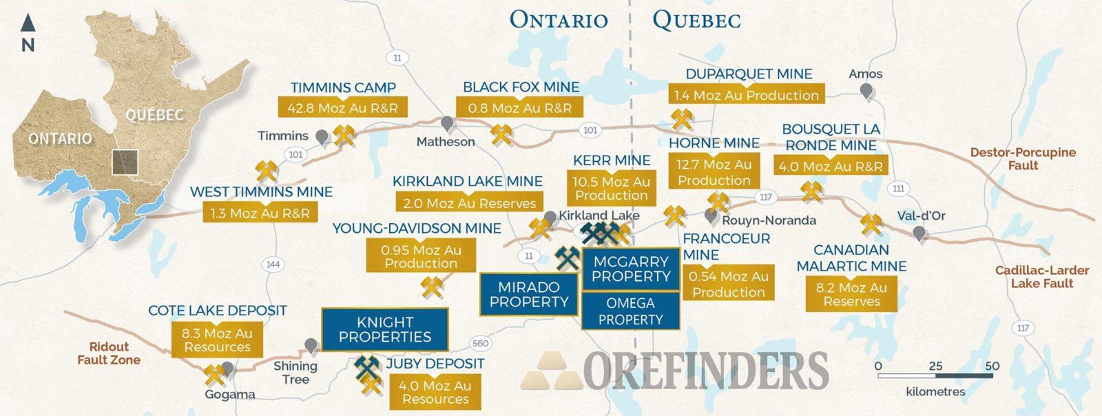 Orefinders' Abitibi Regional Focus