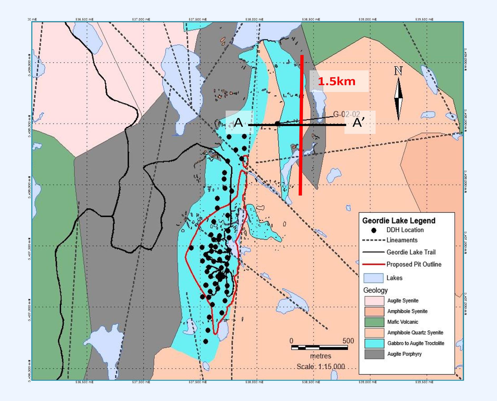 Potential To Increase Geordie Resource