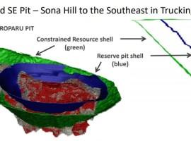 Sandspring Resources updated its Toroparu gold resource
