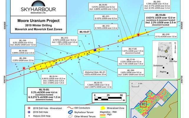 Skyharbour Resources drills 12 meters of 0.62% U3O8 at Moore Uranium