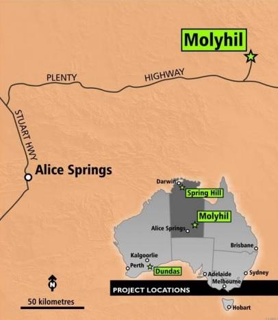 Thor Mining Molyhil THR 1
