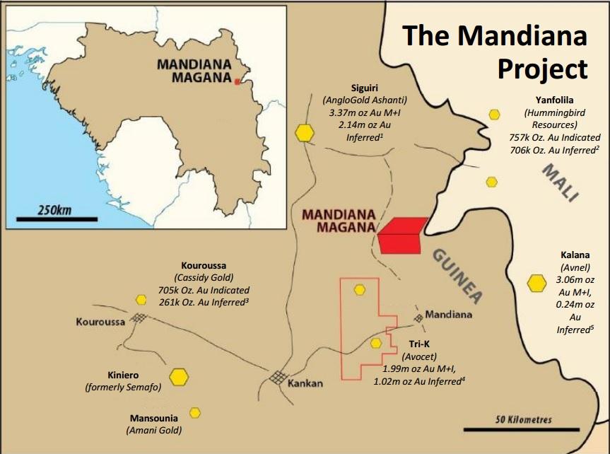 Volcanic Gold Mines VG Mandiana 1