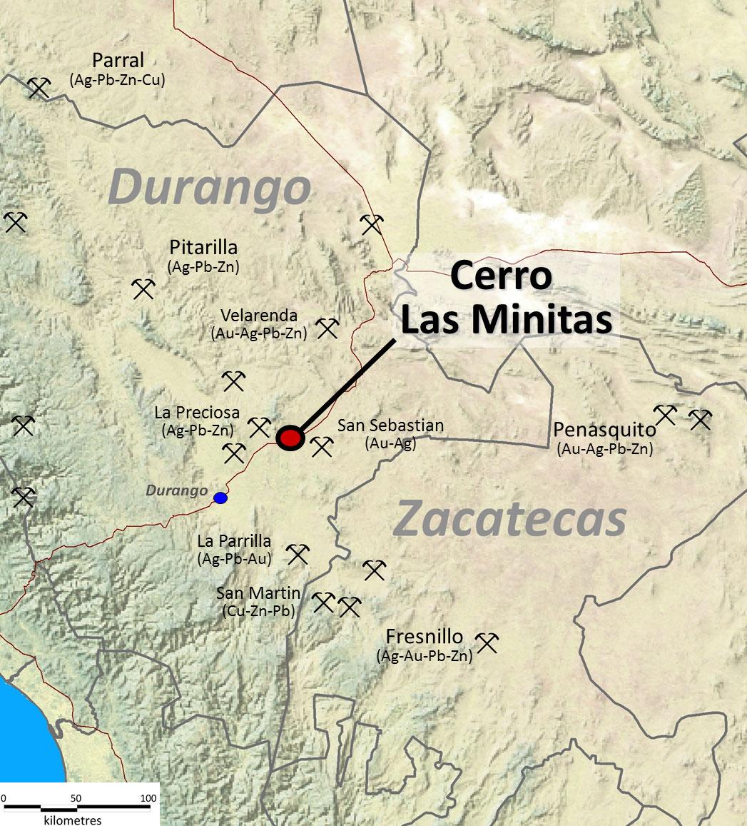 Cerro Las Minitas Location