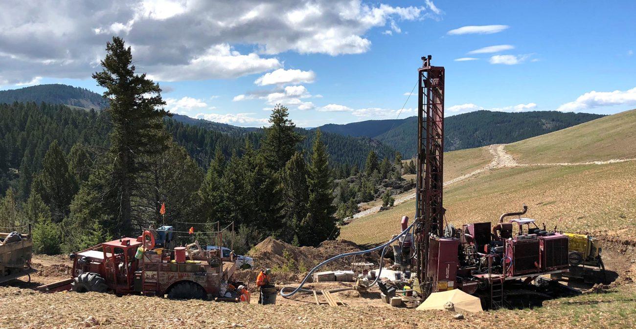 Drilling at DeLamar, May 6 2018