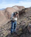 Rock sampling at the Eastside gold project, Nevada