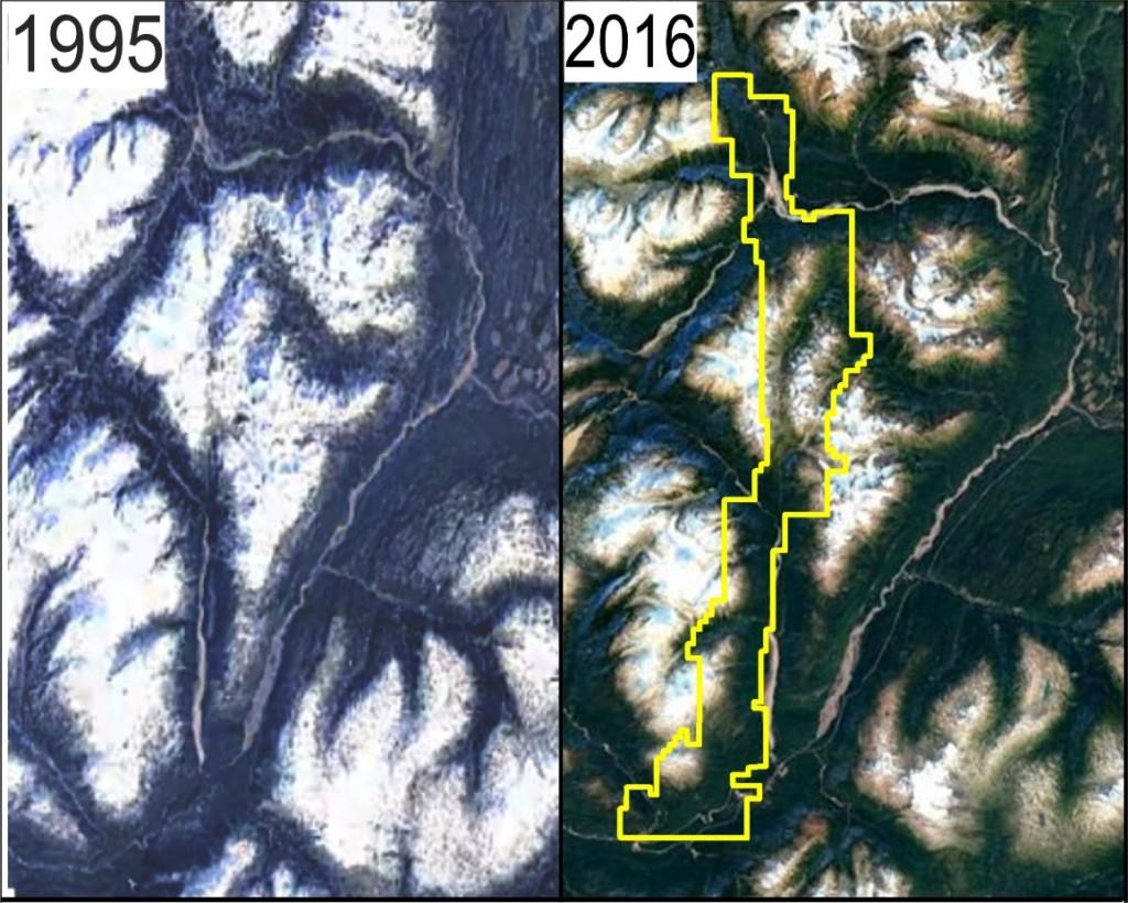 Forrest Kerr Glacier Receding Map