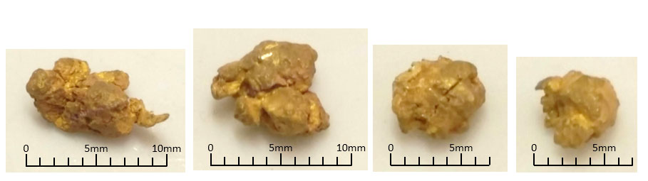 Pilbara gold nuggets