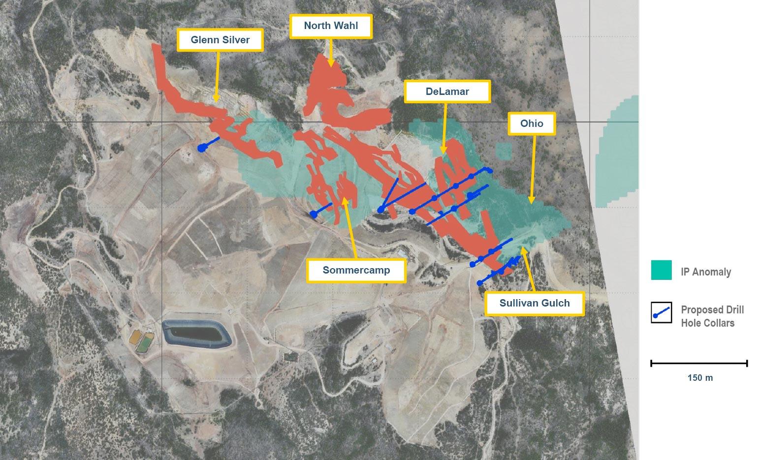 DeLamar Deposit: Phase 1 Drilling